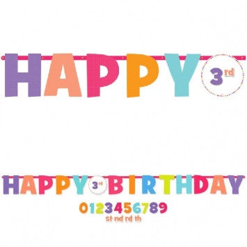 Happy Birthday Add-An-Age Letter Banner