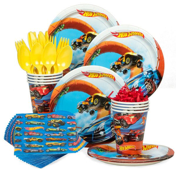 Hot Wheels Party Kit - 8 Guests