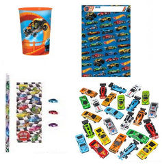 Hot Wheels and Race Car Favor Kit
