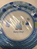 It's a baby boy luncheon plates