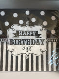 Happy Birthday Chalkboard Luncheon Napkins
