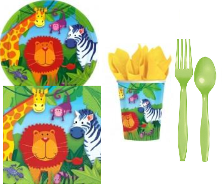 Jungle Party Kit - 8 Guests