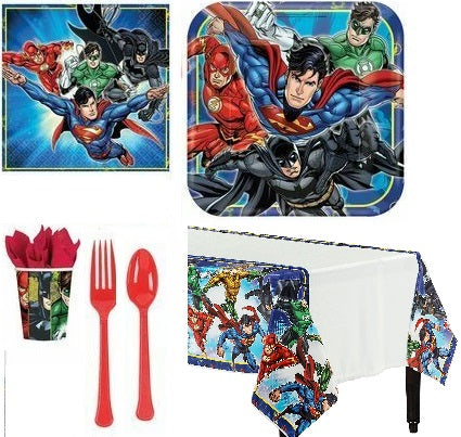 Justice League Party Kit - 8 Guests