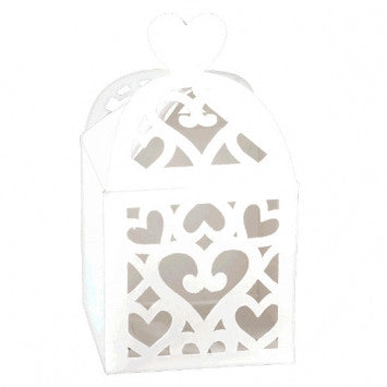 White Lantern Favor Boxes - 50 Cts