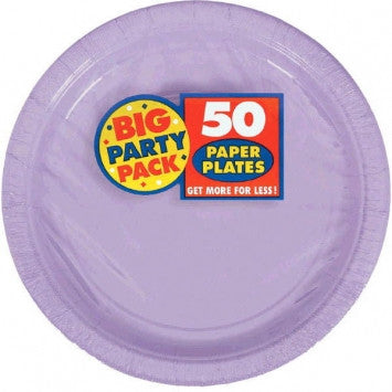 Lavender Big Party Pack Lunch Plates, 9""