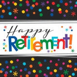 Happy Retirement Luncheon Napkin - 16 Ct