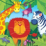 Jungle Animals Luncheon Napkin