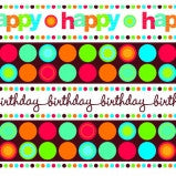 Birthday Print Gift Wrap - 2 Rolls