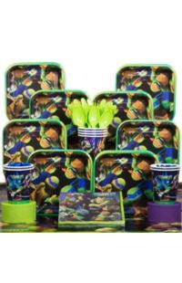 Deluxe Mutant Ninja Turtles Party Kit - 8 Guests