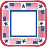 "9"" Patriotic Party Lunch Plates - 40 Ct"