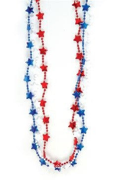 Patriotic Star Beads - 12 Cts
