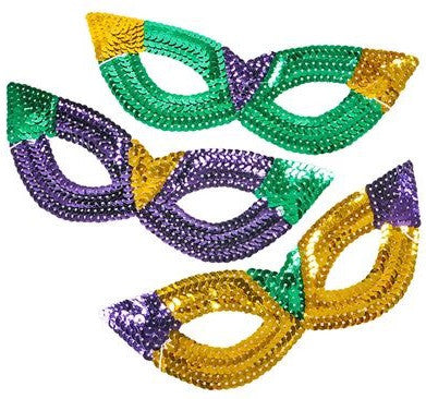 Sequin Mardi Gras Mask