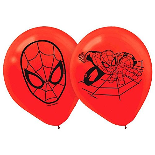 Spider-Man Latex Balloon - 6 Count