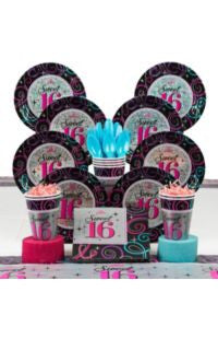 Sweet 16  Celebration Ultimate Kit - 8 Guests