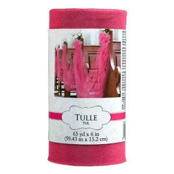 Tulle Spool - Bright Pink