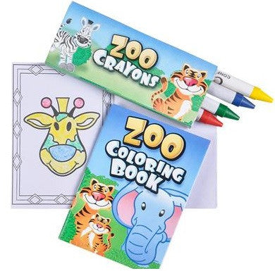 Zoo Animal Coloring Set - 6 Cts