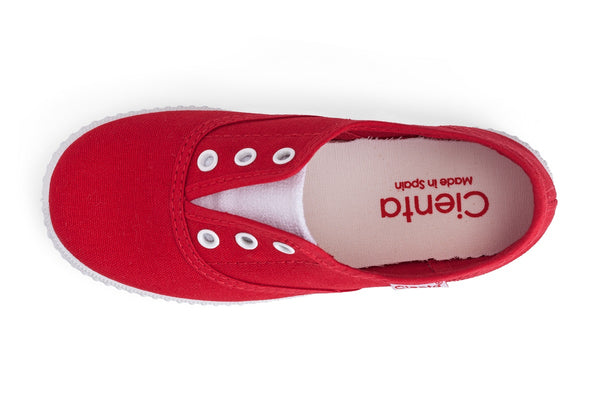 Slip on canvas shoe red I Shoe for boys