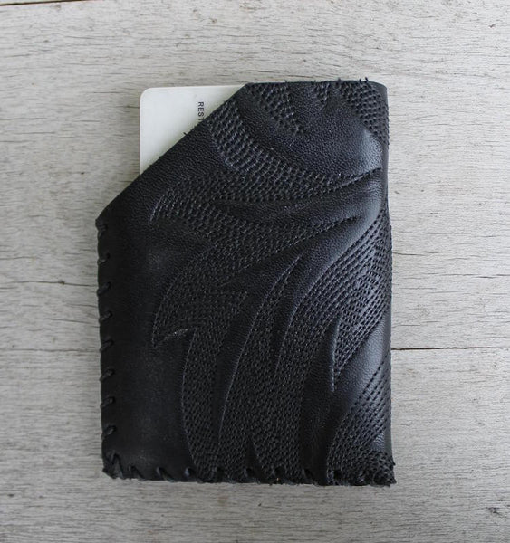 Minimalist Leather Wallet - Card Carrier - Hand Stitched