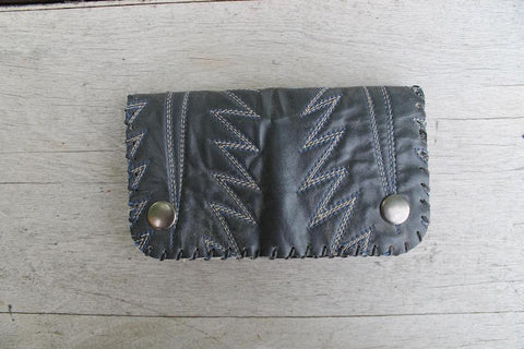Leather Trucker Wallet - Hand Stitched