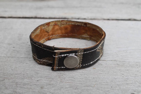 * Basic Leather Cuffs -Available in 2 widths and 2 types of up-cycled leather