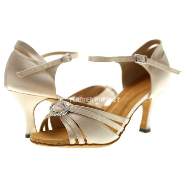 Cream Women Dance Shoes D1064
