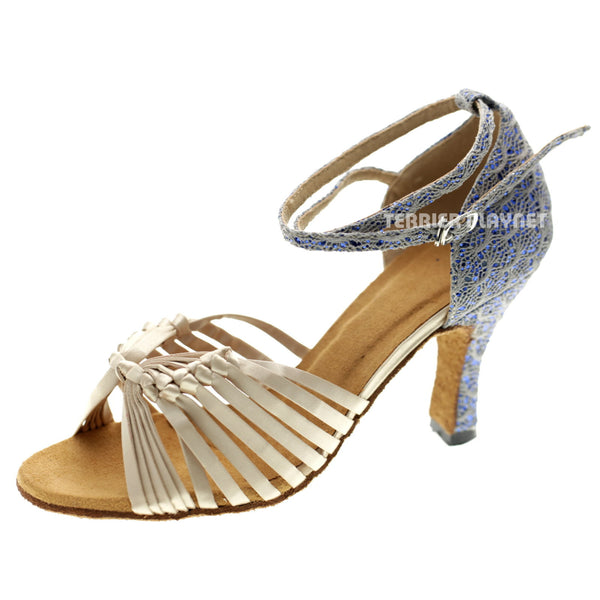 Cream & Gray Women Dance Shoes D1065