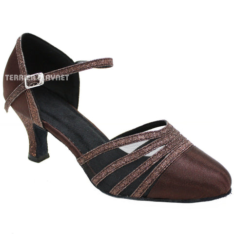 Brown Women Dance Shoes D110