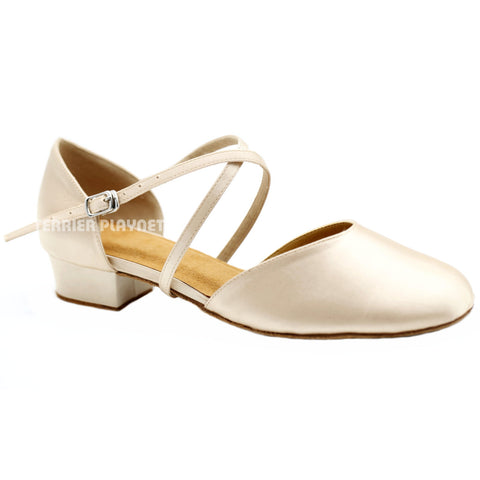 Cream Women Dance Shoes D1135