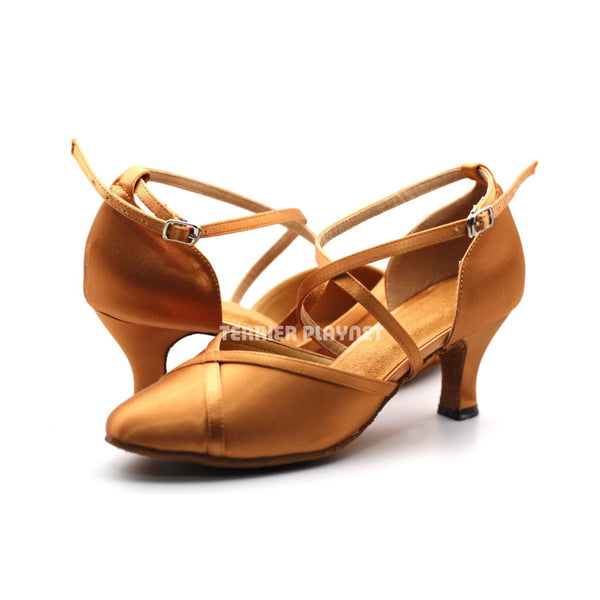 Tan Women Dance Shoes D1191