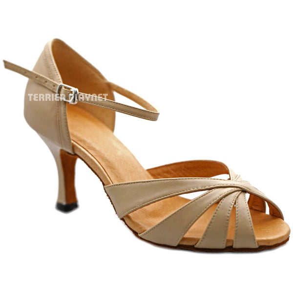 High Quality Flesh Leather Women Dance Shoes D1200