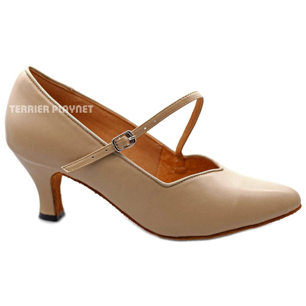 High Quality Flesh Leather Women Dance Shoes D1202