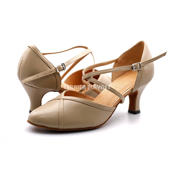 High Quality Flesh Leather Women Dance Shoes D1203