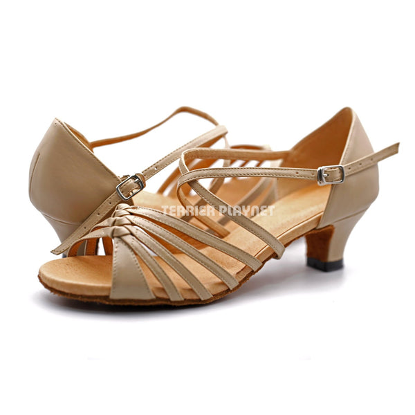High Quality Flesh Leather Women Dance Shoes D1213