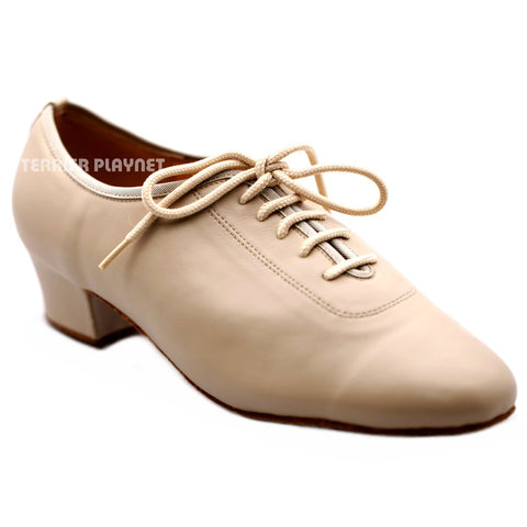 High Quality Flesh Leather Women Dance Shoes D1244