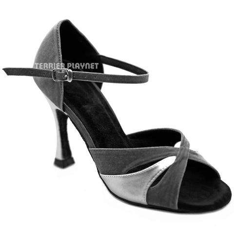 Silver & Gray Women Dance Shoes D1262