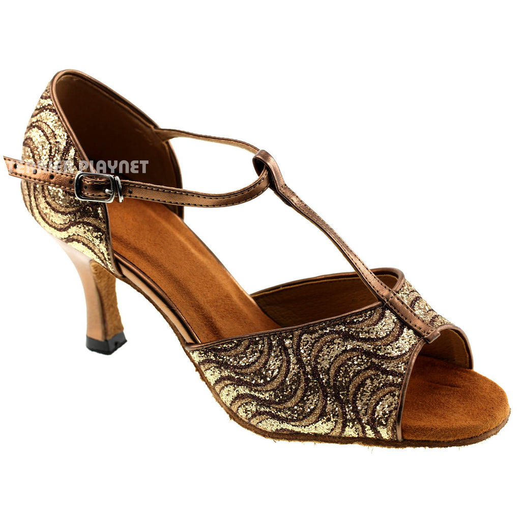 Bronze Women Dance Shoes D193