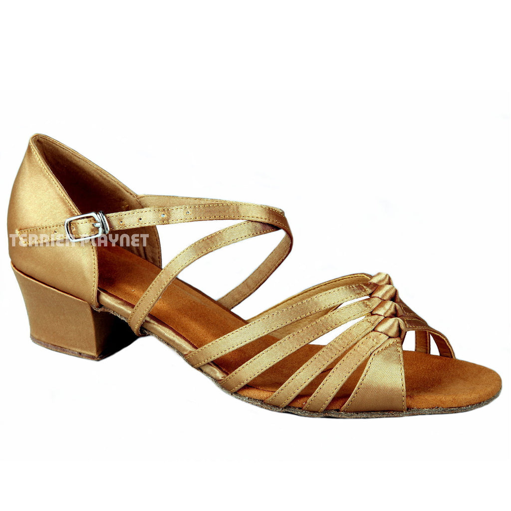 Gold Women Dance Shoes D217