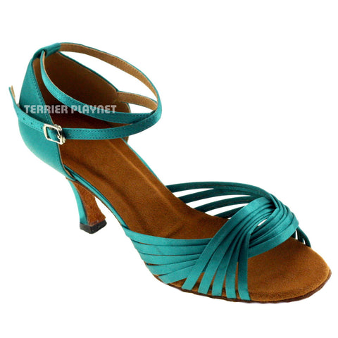 Turquoise Women Dance Shoes D240