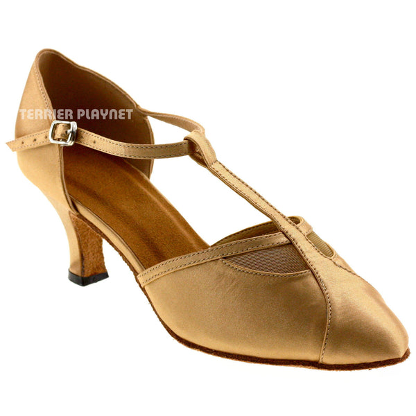 Gold Women Dance Shoes D254