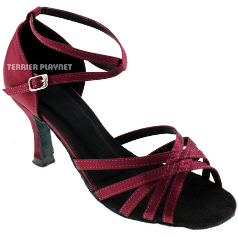 Wine Red Women Dance Shoes D276
