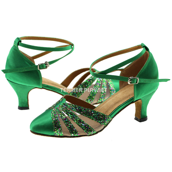 Green Women Dance Shoes D307