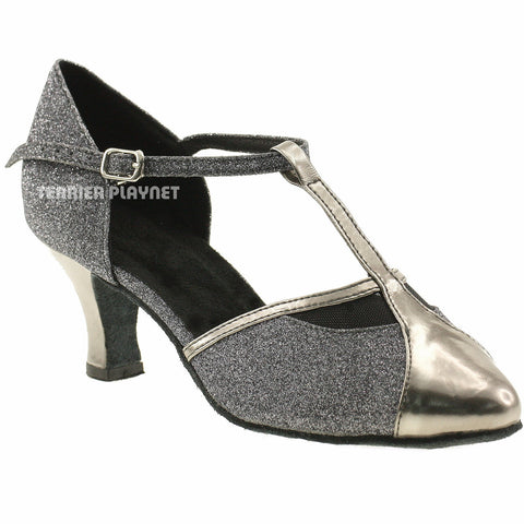Gray Women Dance Shoes D30