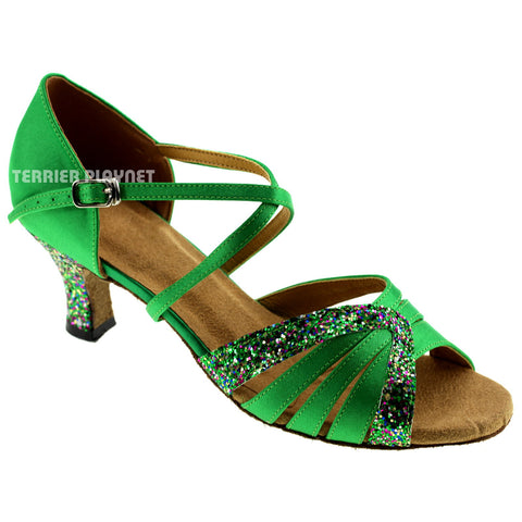 Green Women Dance Shoes D338