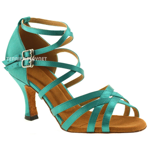 Turquoise Women Dance Shoes D370