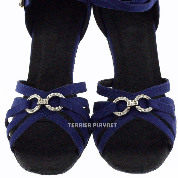 Blue Women Dance Shoes D440