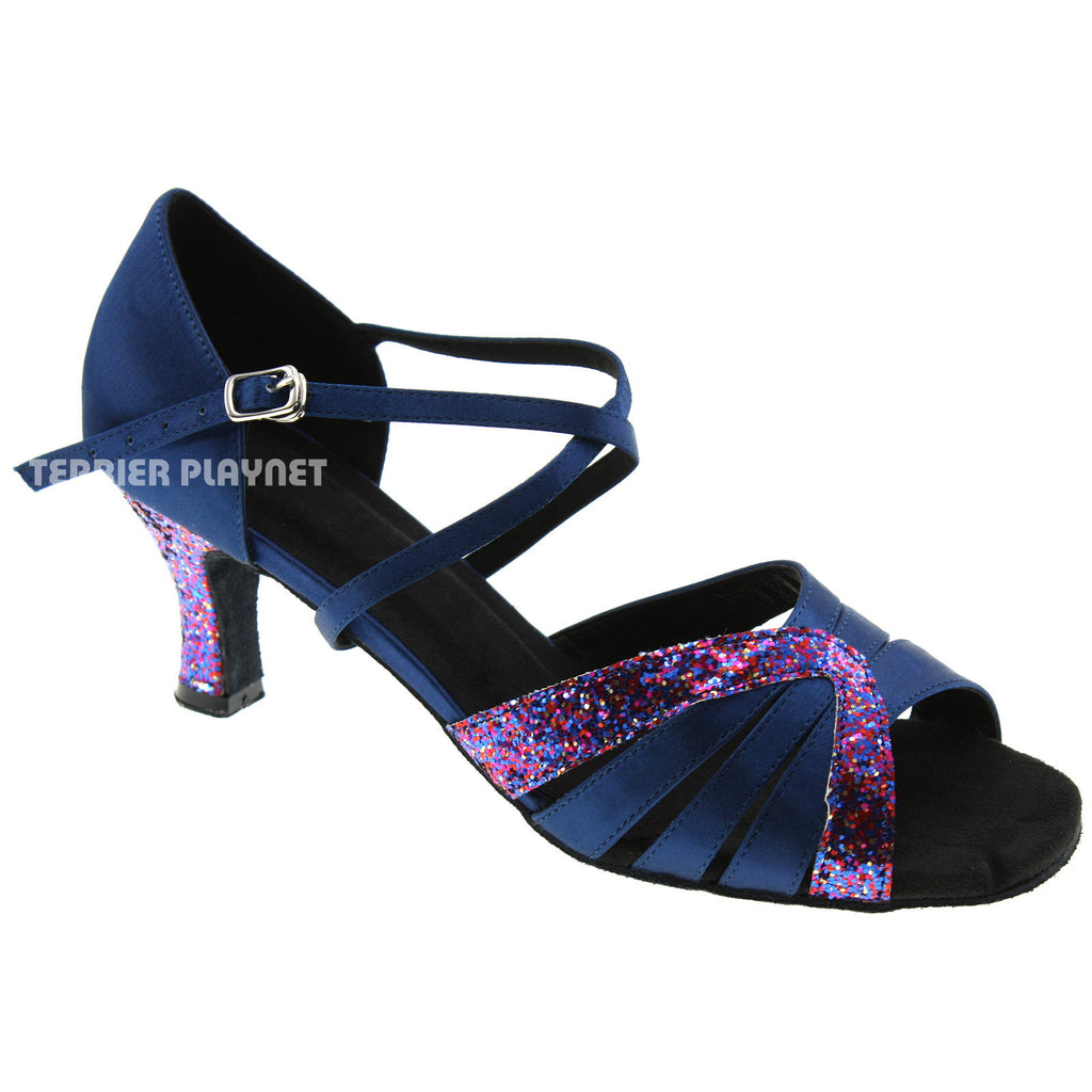 Blue Women Dance Shoes D463