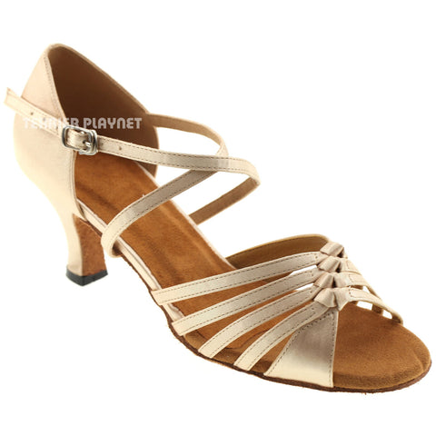 Cream Women Dance Shoes D467