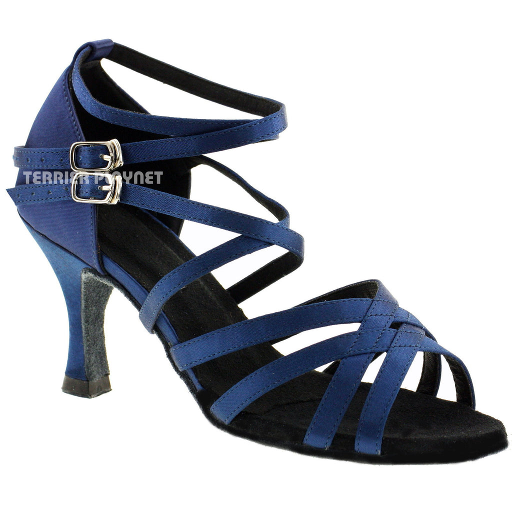 Blue Women Dance Shoes D474