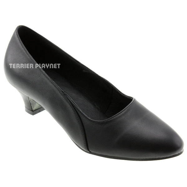 High Quality Black Leather Women Dance Shoes D532