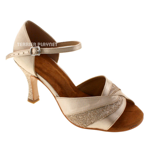 Cream Women Dance Shoes D535